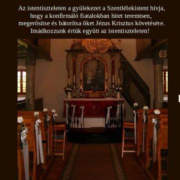 Konfirmáció a templomban